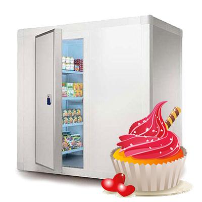 Холодильные камеры для хранения кондитерских изделий
