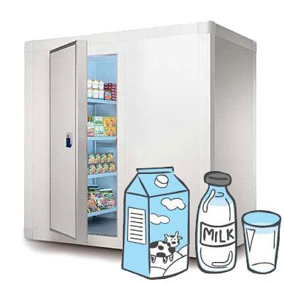 Холодильное оборудование для хранения молочных продуктов